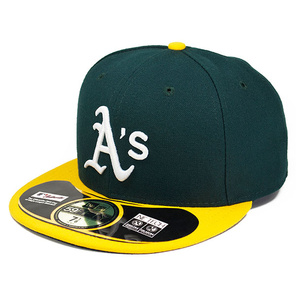 8d7a2ebd9308 Oakland Athletics On-Field Authentic HOME Fitted 59Fifty New Era MLB Hat -  Hat Dreams