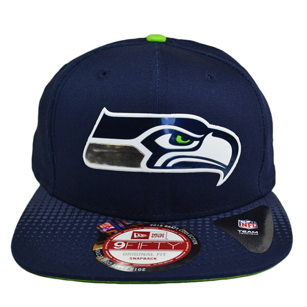 Seattle Seahawks 2015 OFFICIAL NFL DRAFT SNAPBACK 9Fifty New Era Hat ... 9745fbe0959