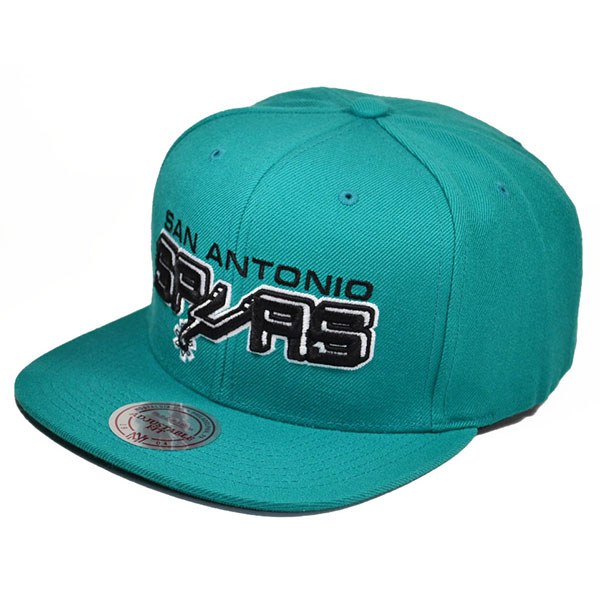 low priced 70198 467e4 San Antonio Spurs BLACK WHITE SERIES SNAPBACK Teal Mitchell   Ness NBA Hat  - Hat Dreams