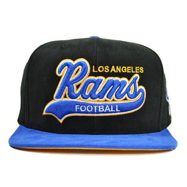 Los Angeles Rams TAIL SWEEPER SNAPBACK Mitchell   Ness NFL Hat - Hat ... 4a9db4c993a0