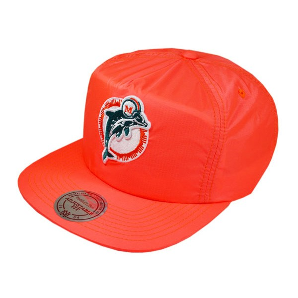 384938712 Miami Dolphins NEON ICE SNAPBACK Mitchell & Ness NFL Hat - Hat Dreams