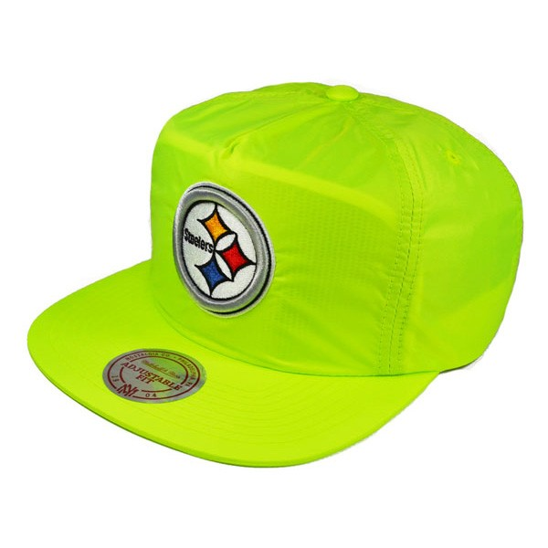 158485eb2 Pittsburgh Steelers NEON ICE SNAPBACK Mitchell   Ness NFL Hat - Hat Dreams