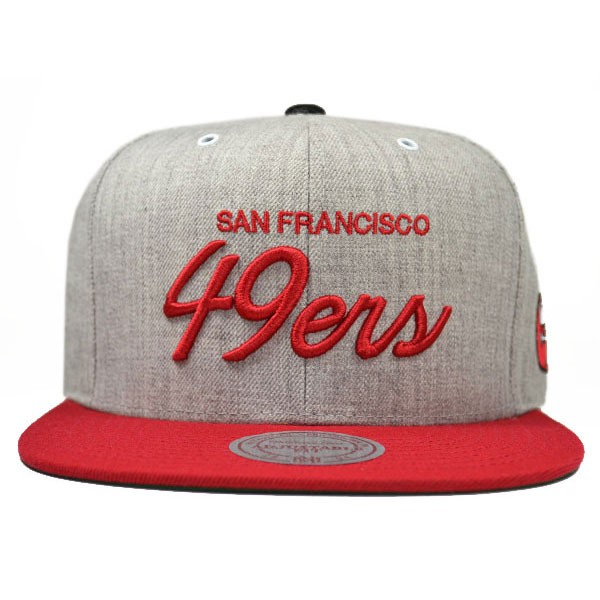 f34fe137 San Francisco 49ers SPECIAL SCRIPT SNAPBACK Mitchell & Ness NFL Hat