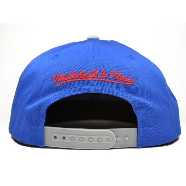 5be106c447a New England Patriots ZONE SQUEEZE SNAPBACK Mitchell   Ness NFL Hat ...