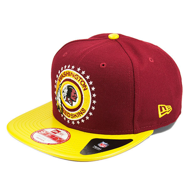 50512c4d Washington Redskins LEATHER TAG SNAPBACK 9Fifty New Era NFL Hat