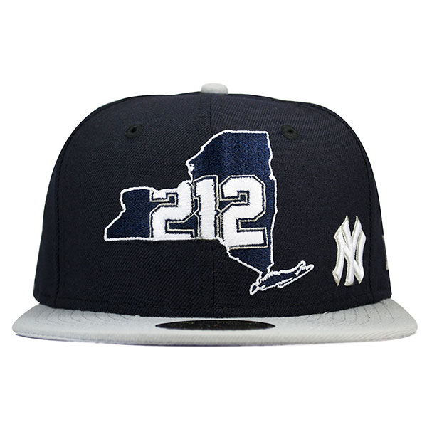 separation shoes 0127c 21b2a New York Yankees 212 AREA CODE State Fitted 59Fifty New Era MLB Hat ...