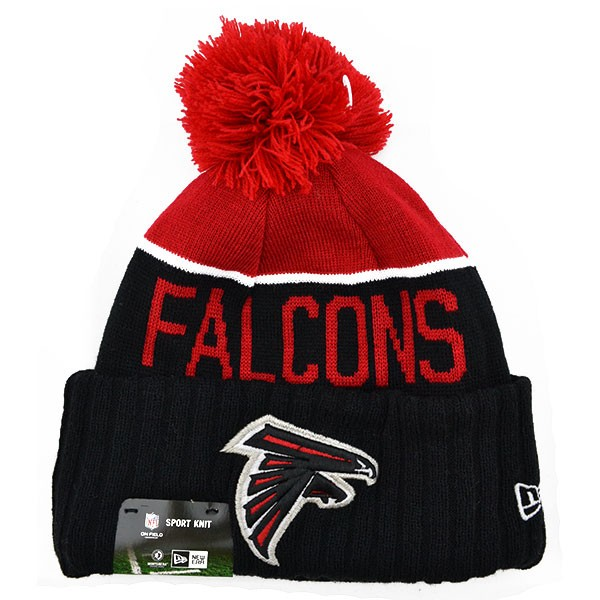 98b2e44f130e9 Atlanta Falcons 2015 NFL On-Field SPORT KNIT New Era Cuffed Pom Hat ...