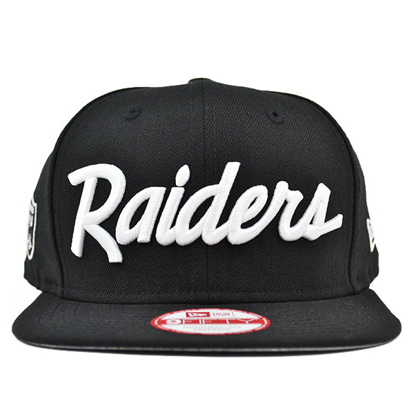 Oakland Raiders TEAM SCRIPT Compton Series SNAPBACK 9Fifty New Era ... 4287f5ebc472