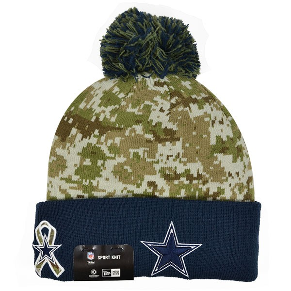 8025966ce10 Dallas Cowboys 2015 NFL SALUTE TO SERVICE STS KNIT New Era Cuffed ...