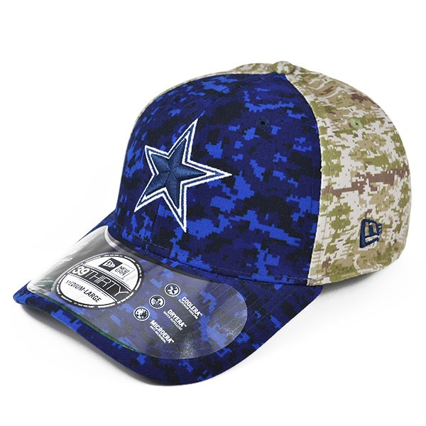 newest c0407 ac87d Dallas Cowboys 2015 Official On-Field NFL Salute to Service STS FLEX-FIT  39Thirty New Era Hat