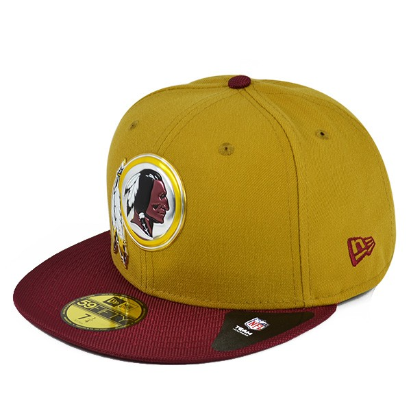 120bc95aaad Washington Redskins 50th Anniv. GOLD Collection Gold FITTED 59Fifty ...