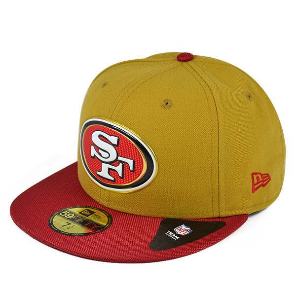 San Francisco 49ers 50th Anniv. GOLD Collection Gold FITTED 59Fifty ... b9e6f5bf2ba0