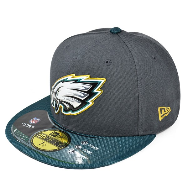 ad4a3460ec9 Philadelphia Eagles 50th Anniv. On-Field GOLD Collection FITTED ...