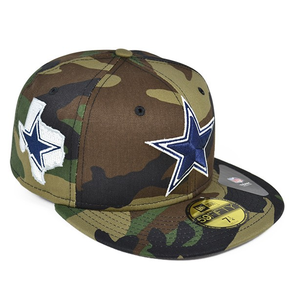cdfa09f08 Dallas Cowboys STATE CLIP Camo FITTED 59Fifty New Era NFL Hat - Hat ...