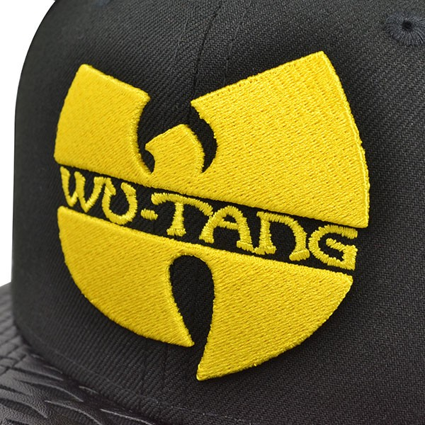 Wu-Tang Clan LEATHER RIP SNAPBACK 9Fifty New Era Hat - Hat Dreams 762c23fe972