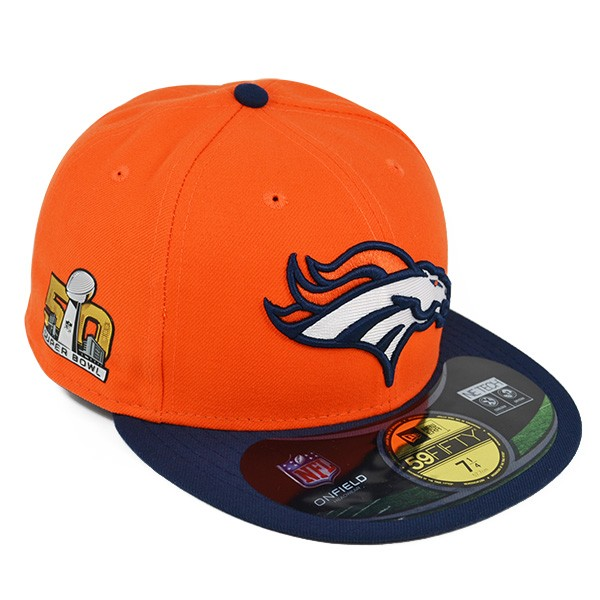 776c827c0 Denver Broncos New Era SUPER BOWL 50 SIDELINE FITTED 59Fifty New Era ...