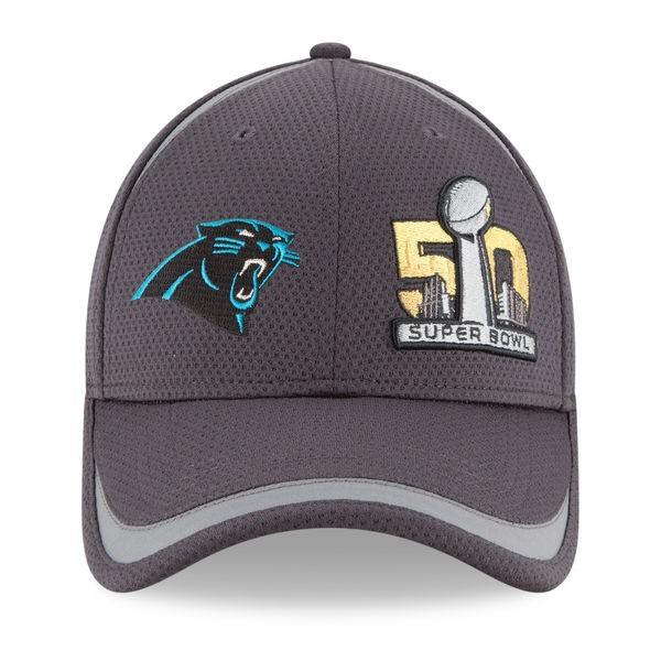 Carolina Panthers New Era SUPER BOWL 50 BOUND 9Forty Velcro Strap NFL Hat -  Hat Dreams bdf42b675