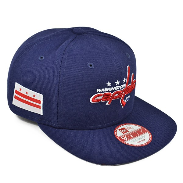 Washington Capitals CITY FLAG SNAPBACK 9Fifty New Era NHL Hat - Hat ... 293311b3107b