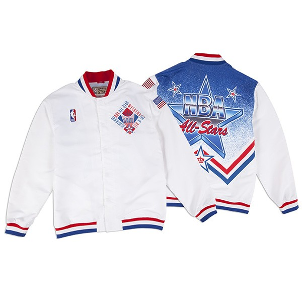 75deb984ad9 NBA ALL STAR Charlotte 1991 Authentic Mitchell   Ness Warm Up Jacket ...