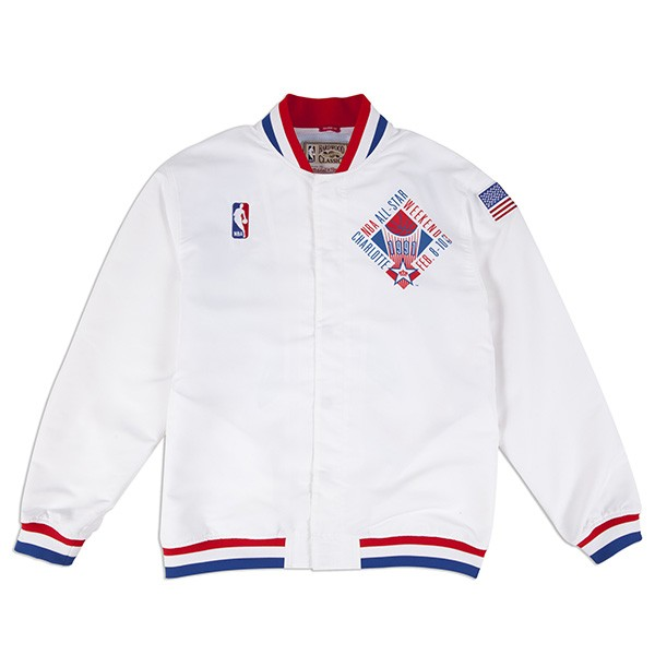 Nuggets Yellow Warm Up Jacket: NBA ALL STAR Charlotte 1991 Authentic Mitchell & Ness Warm