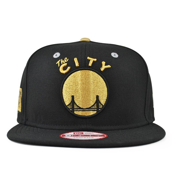91ecafb0f56f4 ... nba classic strapback cap d3e04 db376  buy golden state warriors black  gold metallic snapback 9fifty new era 75e97 44ee2