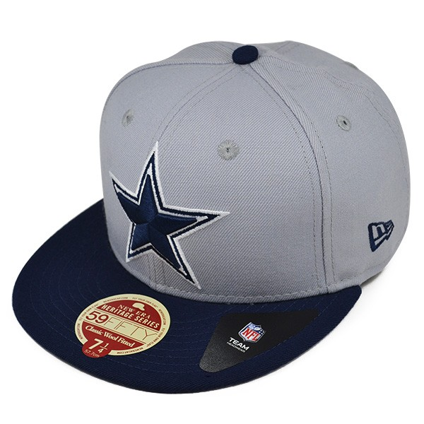 Dallas Cowboys WOOL CLASSIC Gray FITTED 59Fifty New Era NFL Hat ... 460a57235