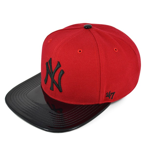 cd471c9b New York Yankees SHINEDOWN Red/Black SNAPBACK 47 Captain MLB Hat ...