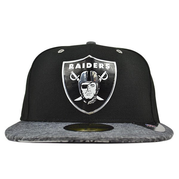 1182e01c4 Oakland Raiders 2016 NFL DRAFT Black FITTED 59Fifty New Era Hat ...
