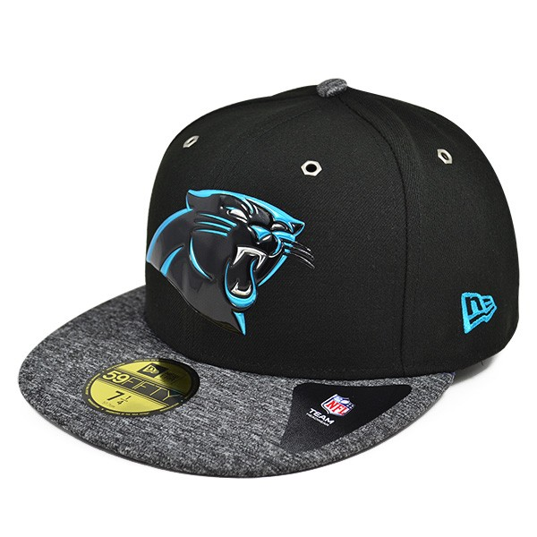 d0a150fb9a5 Carolina Panthers 2016 NFL DRAFT Black FITTED 59Fifty New Era Hat ...