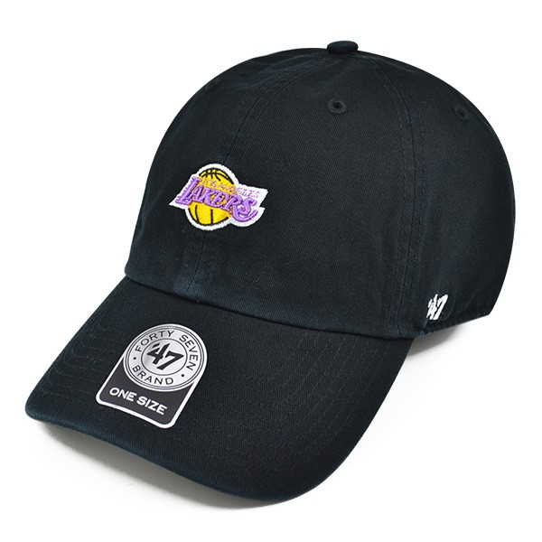 b5fda9e67f8cb Los Angeles Lakers ABATE 47 CLEAN UP Mini Logo STRAPBACK NBA Hat ...
