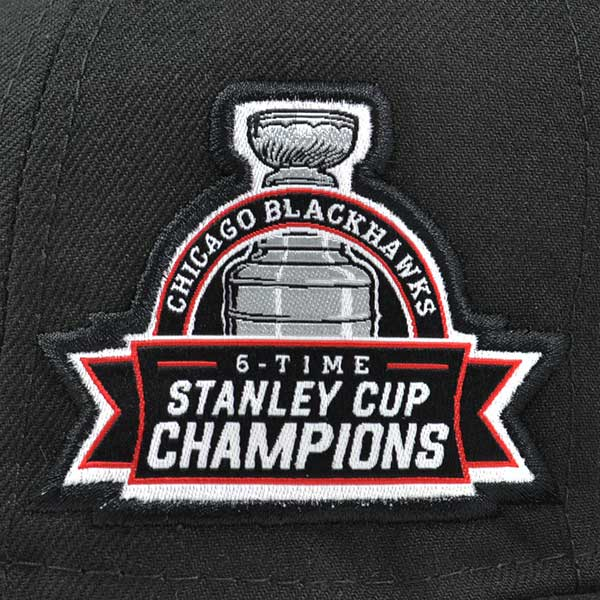 445f789bb Chicago Blackhawks 6x Champions TITLE DEALER FITTED 59Fifty New Era ...