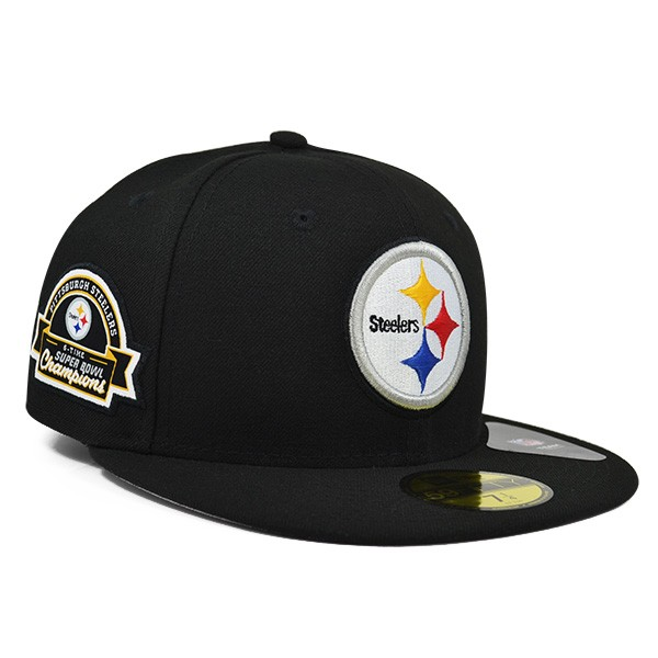 Pittsburgh Steelers 6x Champions TITLE DEALER FITTED 59Fifty New Era ... 4d95ddba21a0
