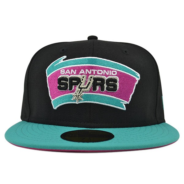 release date 32781 08735 San Antonio Spurs CUSTOM FITTED 59Fifty New Era NBA Hat - Hat Dreams