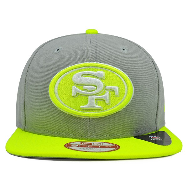 San Francisco 49ers CUSTOM Gray Upright Yellow SNAPBACK 9Fifty New ... 3cb1c6f31d7