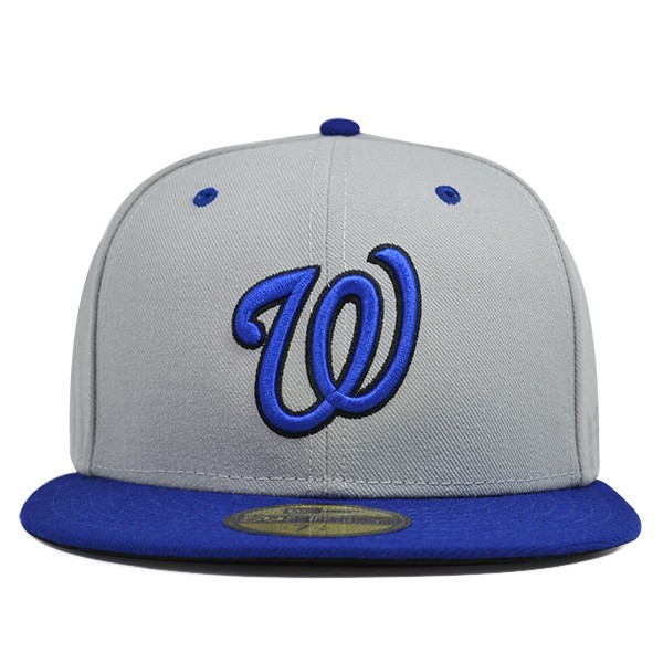 best cheap 3412b 8fc8e ... good washington nationals custom gray royal fitted 59fifty new era mlb  c9601 9d5ce