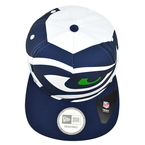 124ed8b1 Seattle Seahawks TEAM TOUGH A-Frame Snapback 9Fifty New Era NFL Hat
