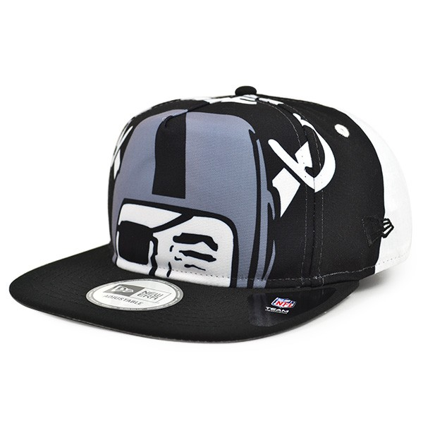 667d7aeb Oakland Raiders TEAM TOUGH A-Frame Snapback 9Fifty New Era NFL Hat