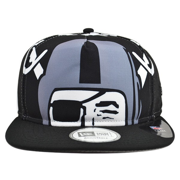 Oakland Raiders TEAM TOUGH A-Frame Snapback 9Fifty New Era NFL Hat ...
