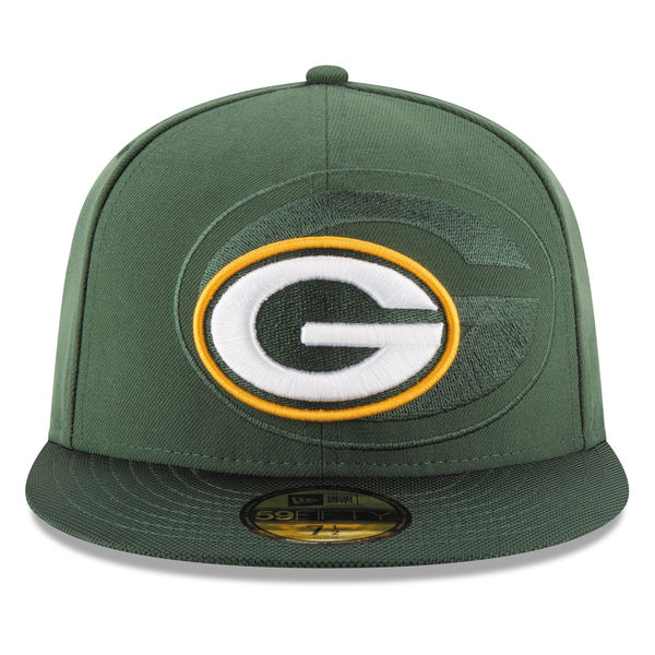 the latest 42f81 4a693 Green Bay Packers 2016 NFL SIDELINE Official Fitted 59Fifty New Era ...