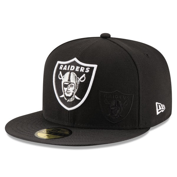 66d70603 Oakland Raiders 2016 NFL SIDELINE Official Fitted 59Fifty New Era Hat