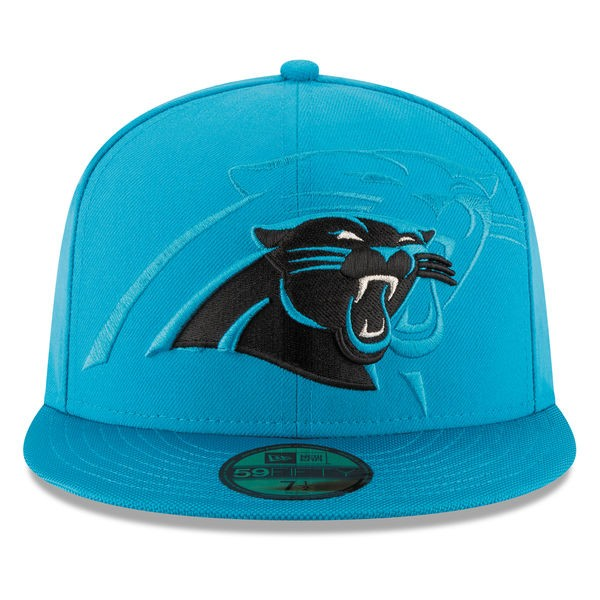 Carolina Panthers 2016 NFL SIDELINE Official Fitted 59Fifty New Era ... ab28336fa