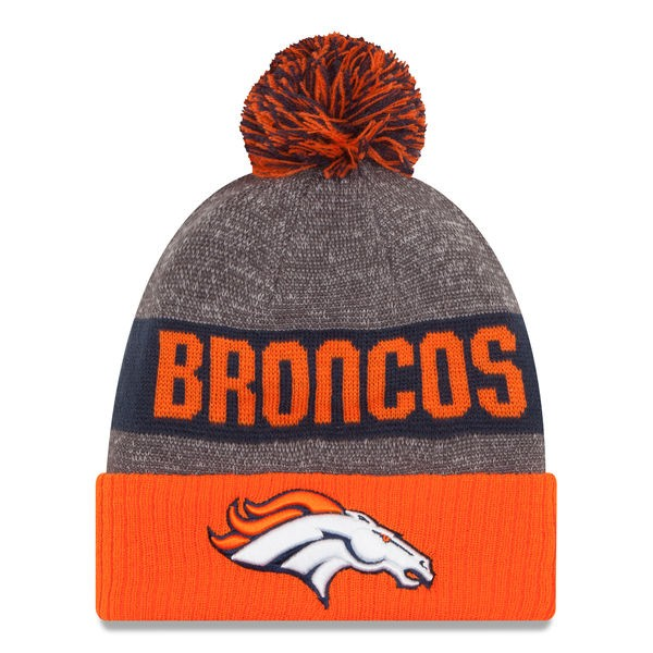 005dfe1307b56a Denver Broncos New Era 2016 NFL On-Field SPORT KNIT Cuffed Pom Hat ...