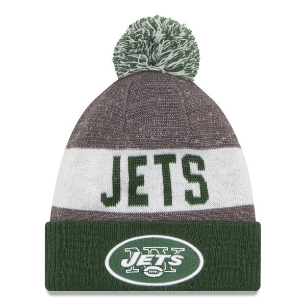 b010eea3 ... reduced new york jets new era 2016 nfl on field sport knit cuffed pom  hat 48521