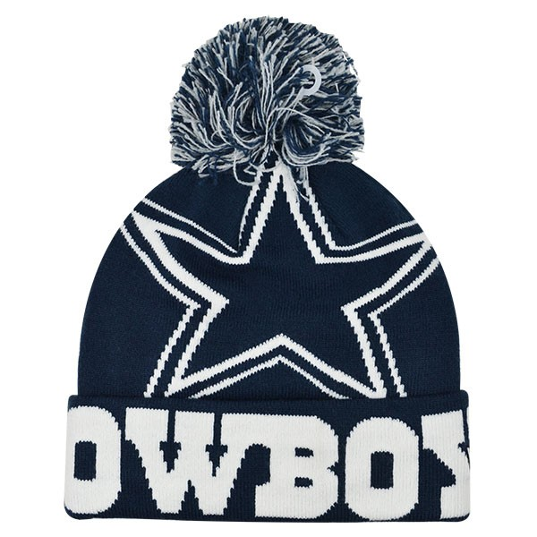 Dallas Cowboys New Era NFL Colossal KNIT Cuffed Pom Hat - Hat Dreams 93156ef6b