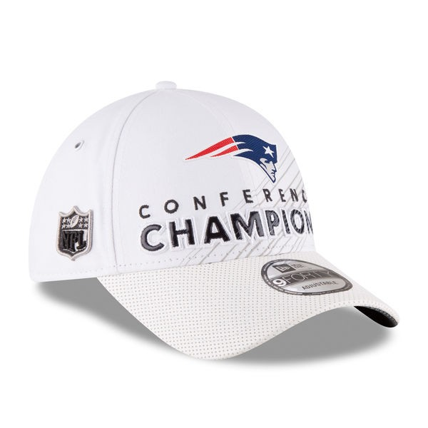 723e72e2 New England Patriots New Era AFC Conference Champions LOCKER ROOM 9Forty  Adjustable Hat