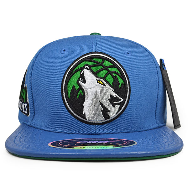 innovative design 0ab06 af764 Minnesota Timberwolves HOWLING Blue STRAPBACK Pro Standard NBA Hat ...