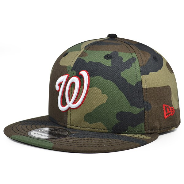 Washington Nationals New Era MLB Woodland Camo Snapback 9Fifty Hat ... ec8914424b6