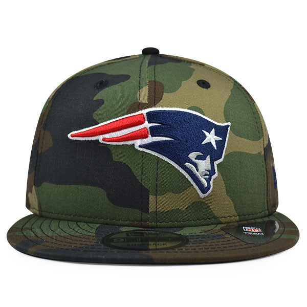 New England Patriots New Era NFL Woodland Camo Snapback 9Fifty Hat ... 10425cf456ac