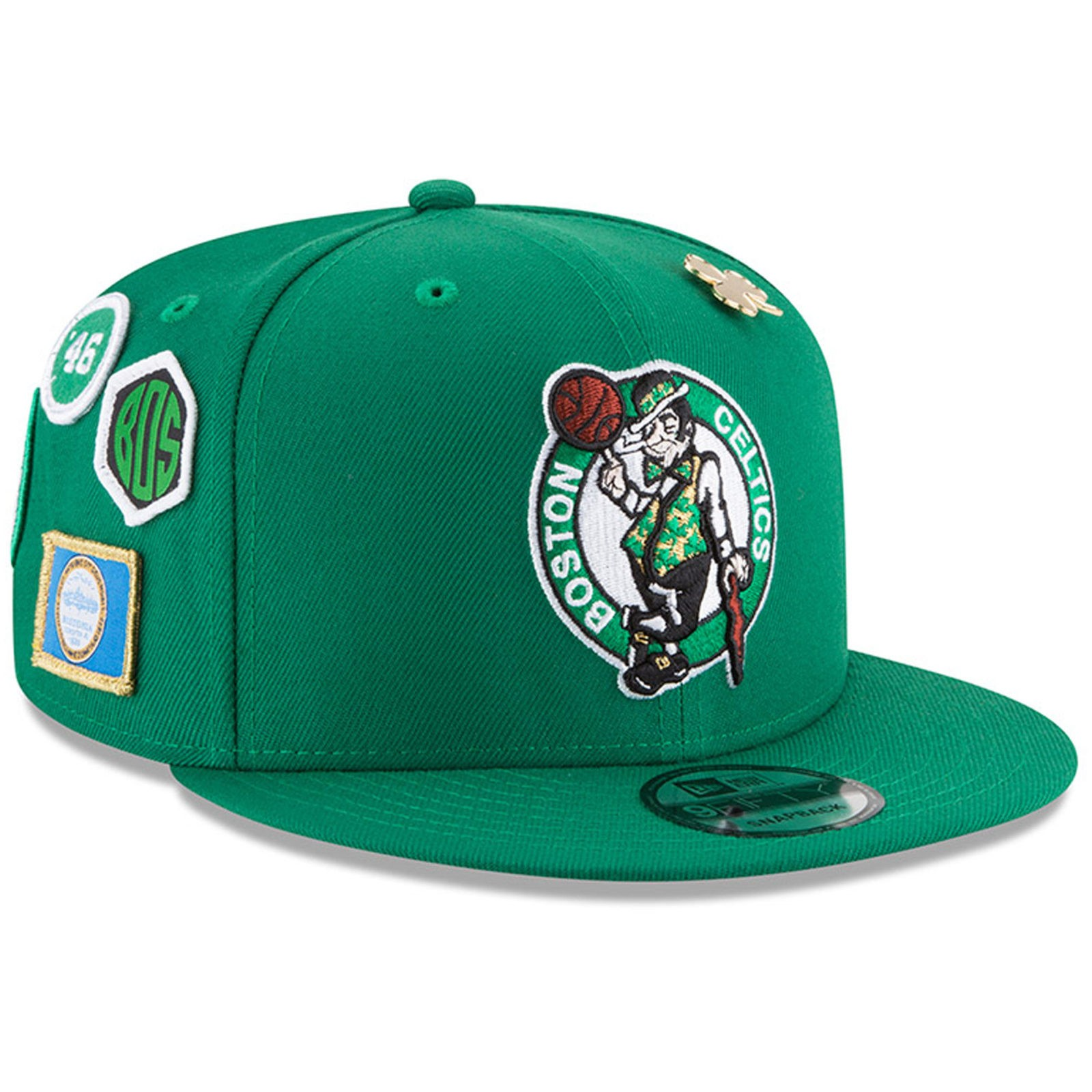 7cd2238079a Boston Celtics New Era 2018 Draft 9FIFTY Snapback Adjustable Hat – Green