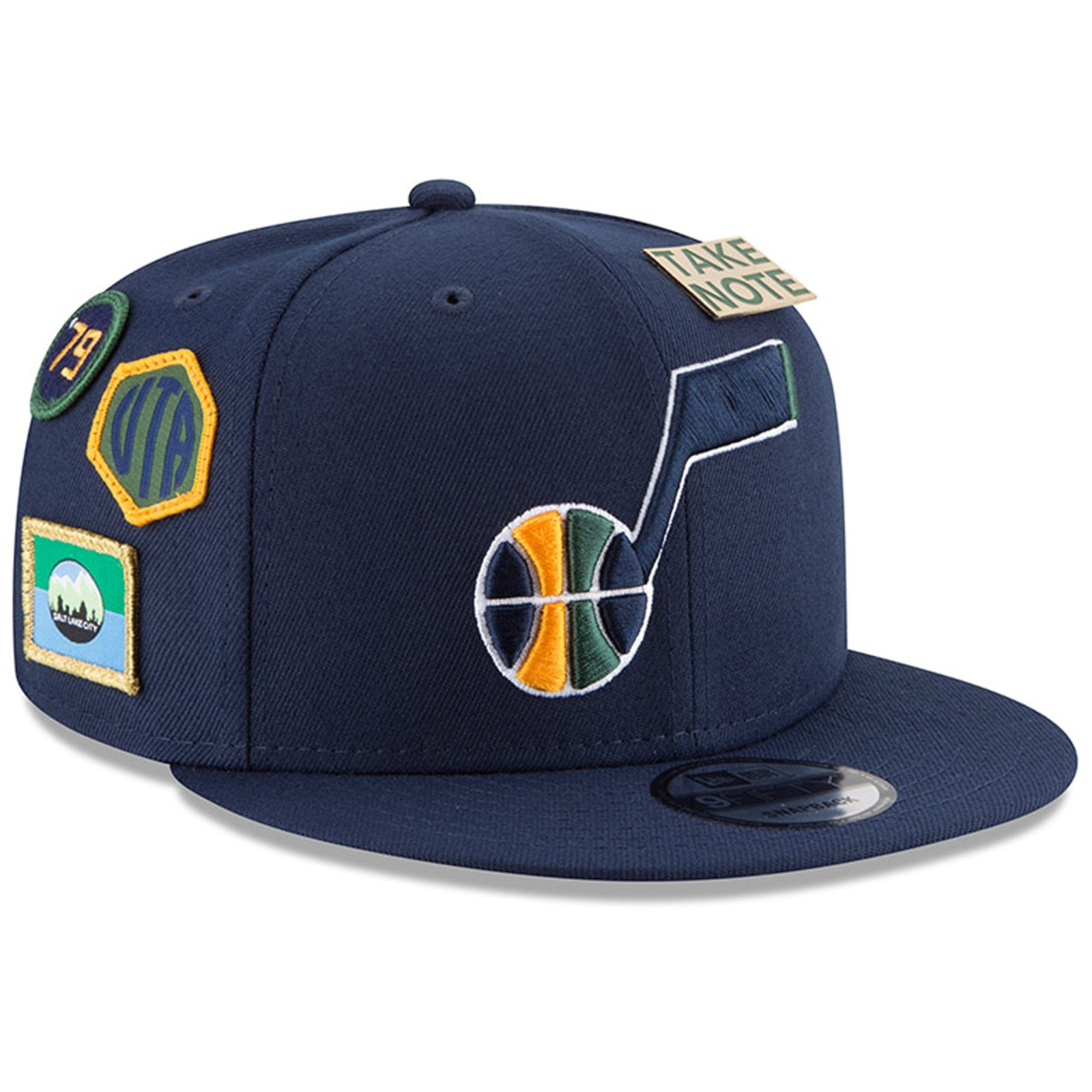 481dc6a417c Utah Jazz New Era 2018 Draft 9FIFTY Snapback Adjustable Hat – Navy